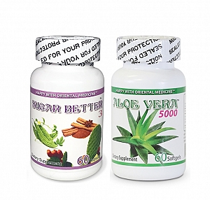 Sugar Better 3  &  Aloe Vera 5000 - 60 capsules / bottle
