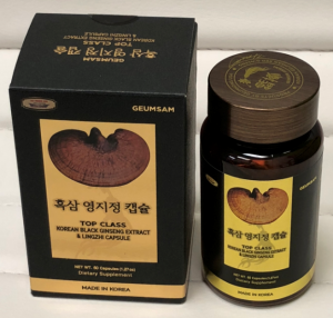 TOP CLASS Korean Black Ginseng Extract & Lingzhi (60 Capsules)