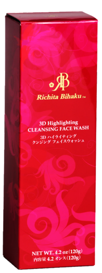 Richita Bihaku - 3D Highlighting CLEANSING FACE WASH: 4.2 oz (120g)