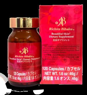 Richita Bihaku - BEAUTIFUL SKIN Dietary Supplement: 120 Capsules 1.6 oz (46g)