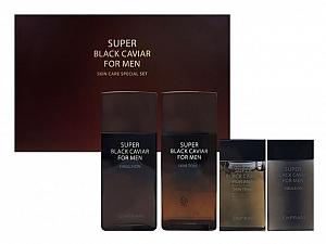 Enprani Super Black Caviar For Men - 2Pcs Set of Tonner & Emulsion