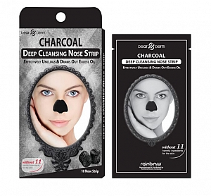 Charcoal Deep Cleansing Nose Pore Strip - 10 Sheets/box
