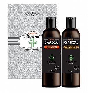 BAMBOO CHARCOAL SHAMPOO & CONDITIONER 2PCS SET - 300 ml