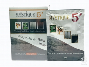 MYSTIQUE 5' Color Hair Shampoo (Medium Light Brown)