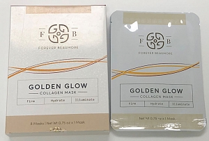 GOLDEN GLOW COLLAGEN MASK - 8 MASKS/ NET Wt 0.75 oz