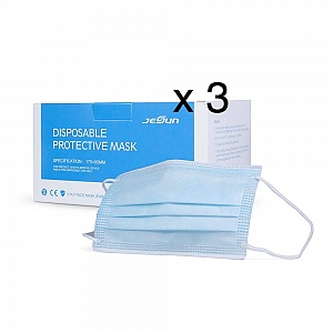(x3) 3 Boxes of  Disposable Protective Face Mask - 50 PCS/ Box.