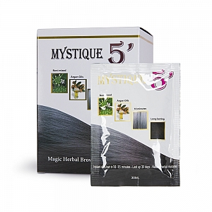 MYSTIQUE 5' Magic Herbal Color Hair Shampoo (Dark Brown)