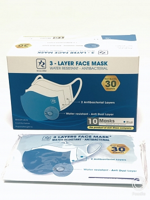 FACE MASK 3 Layers Fabric - 10 Masks/ box
