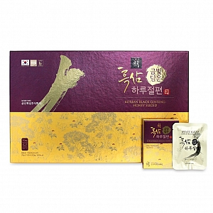 Korean Black Ginseng Honeyed Slice 200g (20g X 10 packs)