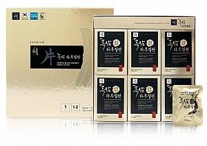 GeumHeuk Korean Black Ginseng Honeyed Slice Root 120g (20g X 6 packs)