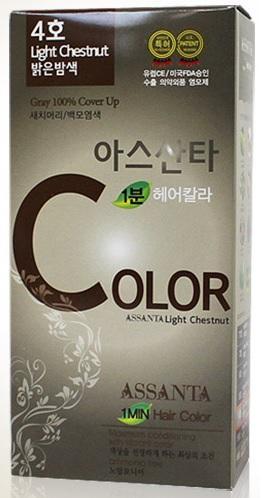 Assanta Hair Color # 4 Minute 60g (Light Chestnut)