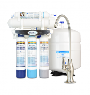 PureT E3RO550-EZ Slim Reverse Osmosis Water Filter System - 50 Gallons Per Day